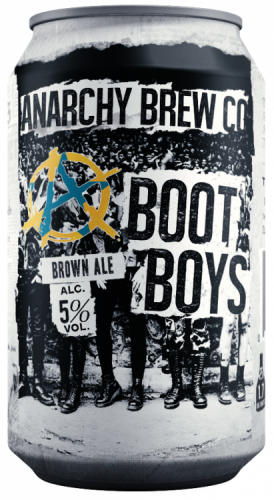 Anarchy Boot Boys 5% 24 x 330ml Cans (BEST BEFORE 01/01/18)