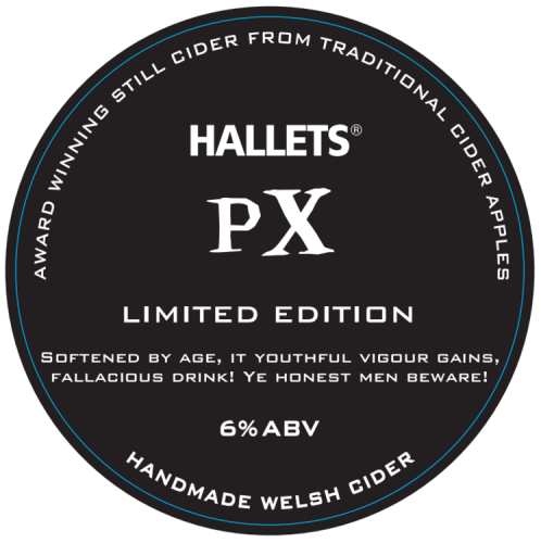 Hallets PX Medium Cider 6% 20L BIB
