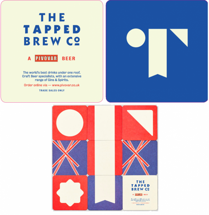 Tapped Brew Co & Pivovar Beer Mats (10 x 100) 1000