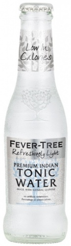 Fever Tree Refreshingly Light Premium Indian Tonic Water 24 x 200ml Bottles