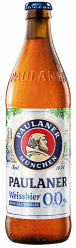 Paulaner Weisse Alcohol Free Beer 0.0% 1 x 500ml Bottles