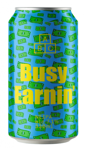 Alphabet Brewing Busy Earnin' K 7.1% 24 x 330ml Cans