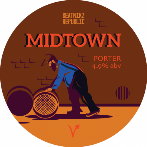 Beatnikz Republic Midtown Porter 4.9% 9g (KS-Cask)