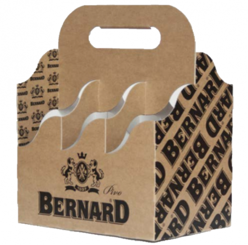 Bernard Brewery 6 Bottle Holder (10 Pack Carton Open Basket)