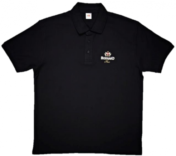 Bernard Brewery Black Polo Shirt (Large)
