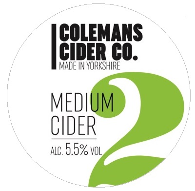 Colemans Medium Cider 5.5% 20L BIB