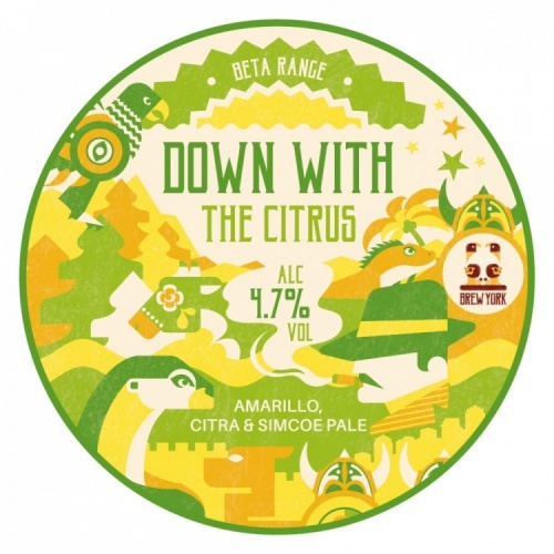 Brew York Down With The Citrus 4.7% 30L Key Keg