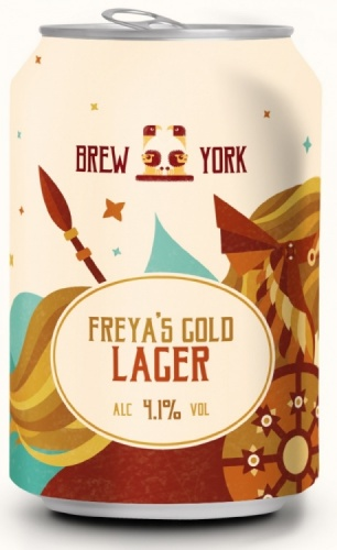 Brew York Freya's Gold 4.1% 24 x 330ml Cans