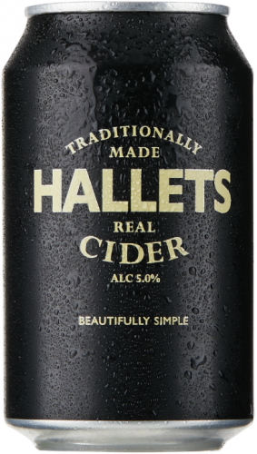 Hallets Real Cider 6% 24 x 330ml Cans