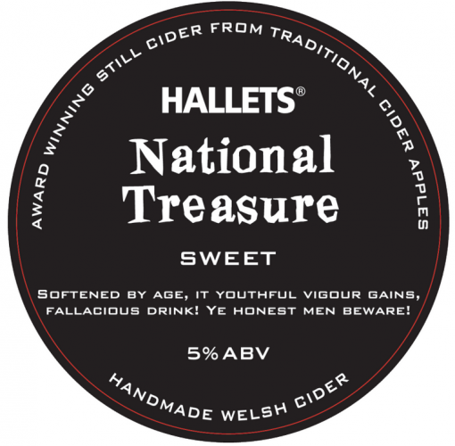 Hallets National Treasure Sweet Cider 5% 20L BIB