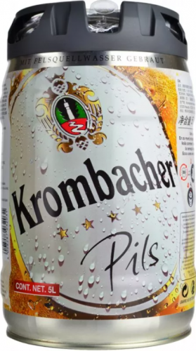 Krombacher Pils 4.8% 1 x 5Ltr Mini Keg