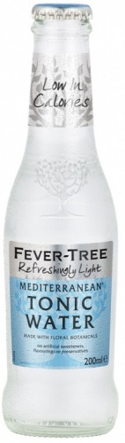 Fever Tree Refreshingly Light Mediterranean Tonic Water 24 x 200ml Bottles