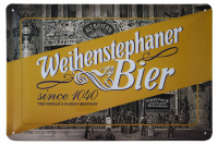 Weihenstephan A4 Metal Sign Bayern Bier Brown