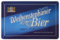 Weihenstephan A4 Metal Sign Bier Blue
