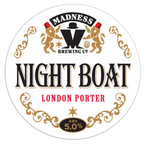 Madness Night Boat Porter 5% 30L (E-Keg)