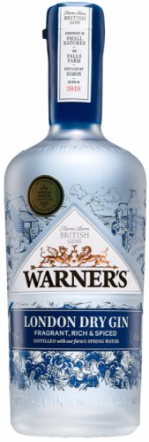Warner's London Dry Gin 40% 1 x 70cl Bottle