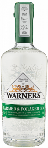 Warner's Farmed & Foraged Gin 40% 1 x 70cl Bottle