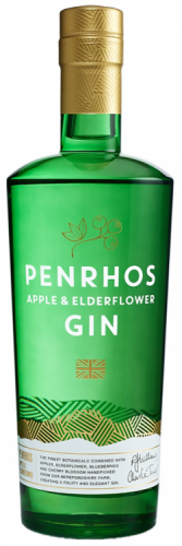 Penrhos Apple & Elderflower Gin 40.5% 1 x 70cl Bottle