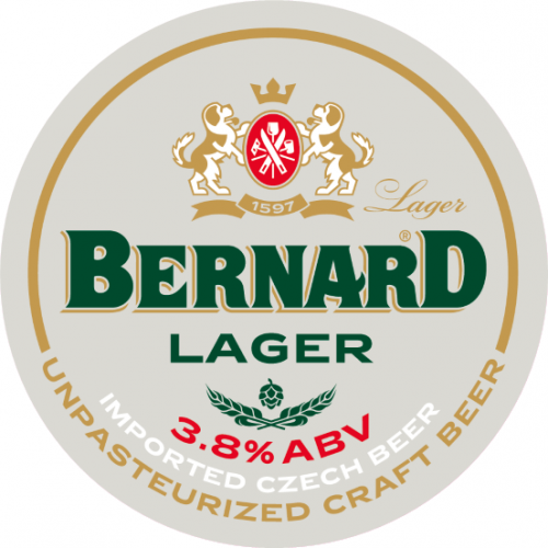 Bernard Light Lager (Svetle 10° Light Pilsner) 3.8% 30L Keg