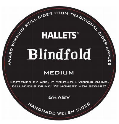 Hallets Blindfold Medium Cider 6% 20L BIB