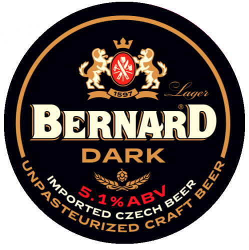 Bernard Font Badge Dark Round x 1
