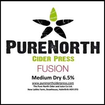 Pure North Fusion Medium Dry Cider 6.5% 20L BIB