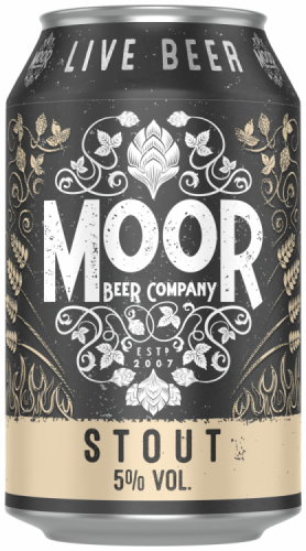 Moor Stout 5% 1 x 330ml Cans