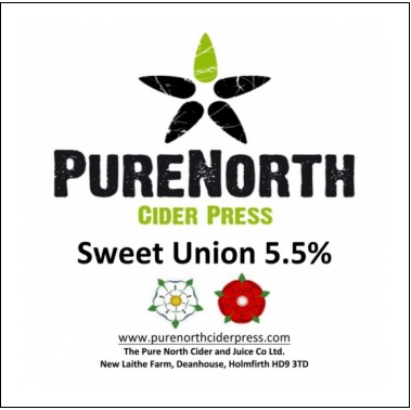 Pure North Sweet Union Medium Sweet Cider 5.5% 20L BIB