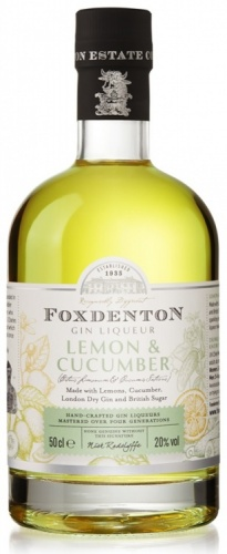 Foxdenton Lemon & Cucumber Gin 20% 1 x 50cl Bottle