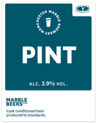Marble Pint 3.9% 9g