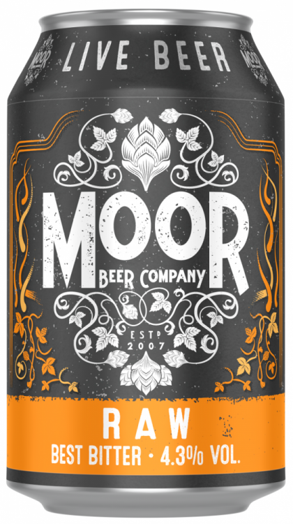 Moor RAW 4.3% 1 x 330ml Cans