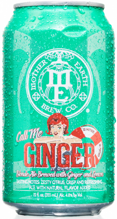 Mother Earth Brew Co Call Me Ginger 4.8% 12 x 355ml Cans