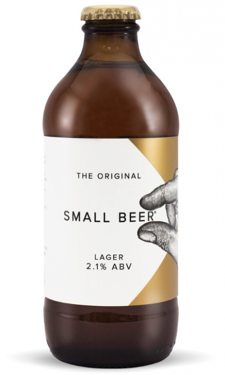 Small Beer Lager 2.1% 24 x 350ml Bottles