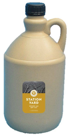 Tapped Brew Co Station Yard 4.2% 2.5 Liter Container