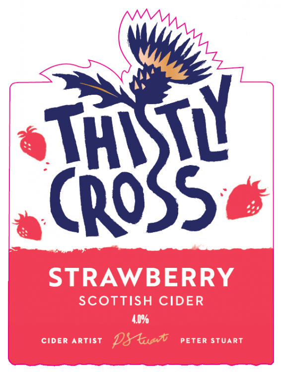 Thistly Cross Strawberry Cider 4% 20L Bag In Box