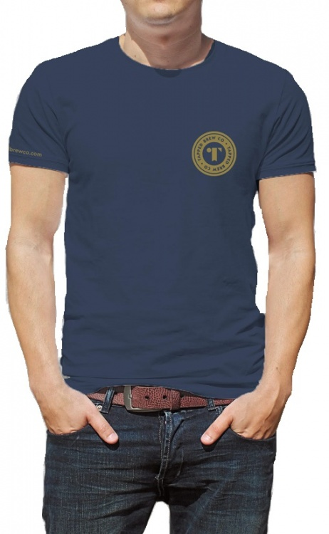 Tapped Brew Co Brewery Blue T-Shirt (Large)