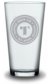 Tapped Brew Co Conical Pint Glasses 20oz (Box of 12)