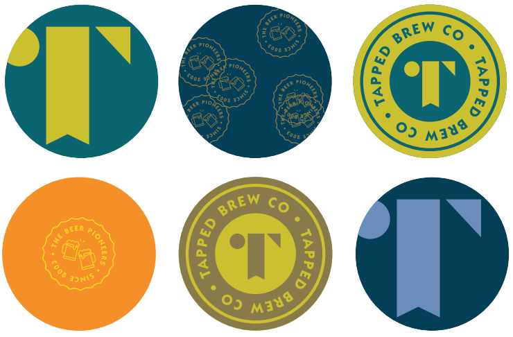 Tapped Brew Co & Pivovar Beer Mats Round 100 x 10 (1000)
