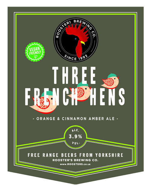 Roosters Three French Hens 3.9% 9g